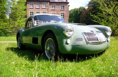 MGA coupe 1500cc RACER-look 1958 totale restauratie, in nieuwstaat.